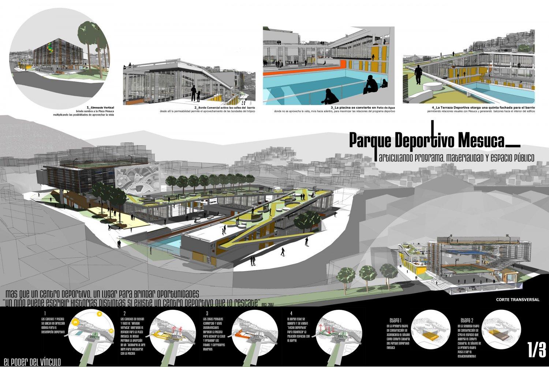 Concurso parque deportivo mesuca pdm arepa for Busco arquitecto para proyecto
