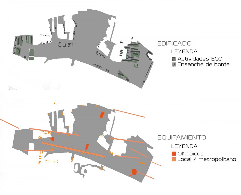 Esquemas edificado y equipamiento - CLC