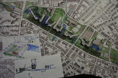 Propuesta Layers. El agua se convertiría en una línea que permitiría tejer varias capas de estrategias urbanas solapadas