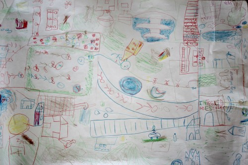 Uno de los dibujos realizados.